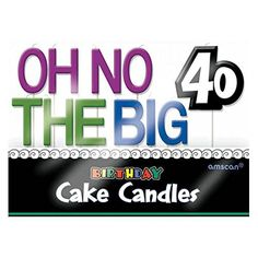 """The Party Continuous Birthday Party """"Oh No The Big Molded Toothpick Candle Decoration, Pack of Multi , Wax * Check out the image by visiting the link. (This is an affiliate link) 40th Birthday Parties, It's Your Birthday, Cake Decorating Supplies, Wish Come True, Online Shopping For Women, Read More, Birthday Candles, Party Supplies, Wax"""