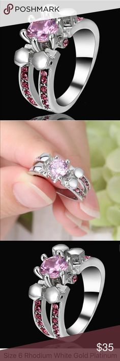 Stunning Statement Size 6 Brand New Boutique Quality Absolutely Stunning Rhodium Plated for wear and shine longevity. Jewelry Rings