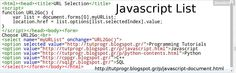 #Javascript #List #Programming #Code #Picture  : http://tutprogr.blogspot.gr/p/javascript-document.html https://plus.google.com/u/0/b/110179768197910025766/110179768197910025766/posts