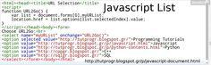 #Javascript #List #Programming #Code #Picture  : http://tutprogr.blogspot.gr/p/javascript-document.html https://plus.google.com/u/0/b/110179768197910025766/110179768197910025766/posts