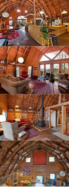 105 Year-Old Converted Barn On Bainbridge Island.  Love this, but I imagine heating and cooling this place would be an issue.