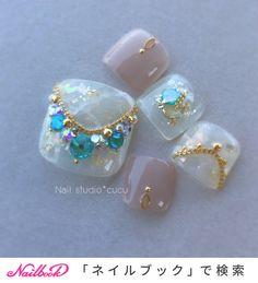 Fancy Nails Designs, Toe Nail Designs, Chic Nails, Stylish Nails, Feet Nail Design, Acrylic Toes, Japanese Nail Design, Pretty Toe Nails, Gel Toes