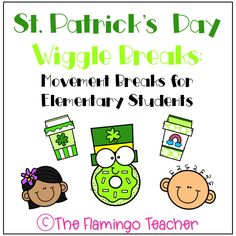 Give your students movement breaks with these free St. Patrick's Day Wiggle Breaks!