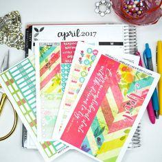 "April MONTHLY CALENDAR Kit, ""Distressed Look"" April kit fits Erin Condren Life Planners, Monthly Calendar Stickers fits EC Calendars"