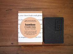 Bamboo Activated Charcoal Soap with Tea Tree and Lavender, Acne-prone skin, All Natural Face. charcoal soap Wash