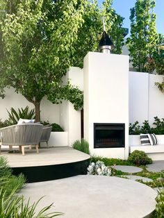 Outdoor fireplace succulent planting and entertaining areas designed by tristanpeirce Landscape Architecture Perth Western Australia Pool Landscape Design, Landscape Architecture, Garden Design, Outdoor Areas, Outdoor Rooms, Outdoor Living, Outdoor Seating, Perth, Porches