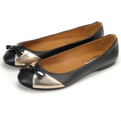 Papillon Ballet Flats in Black/Pewter
