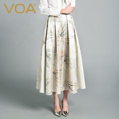 Find More Skirts Information about VOA 2016 autumn new silk skirt simple all match skirt female C6170,High Quality skirts pink,China skirt Suppliers, Cheap skirt lace from VOA Flagship Shop on Aliexpress.com