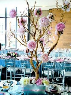 Things for my Tea Party Wedding - Love Branch/Tree Centerpieces!