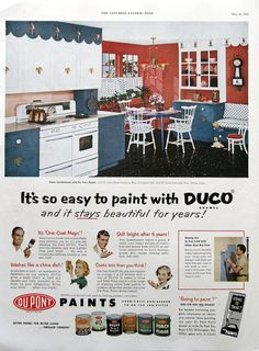 1953 duco enamel paint ad its so easy to paint by retroreveries