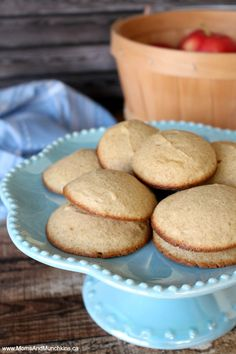 Applesauce Cookies - they taste like muffin tops!