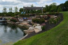 Gorgeous Pavers and a Soothing Waterfall