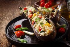 Melanzane ripiene di couscous di verdure - Fidelity Cucina
