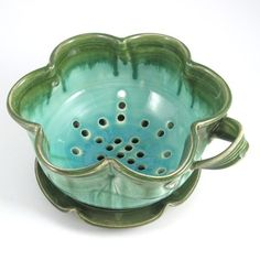 ... on Etsy : kitchen colander berry bowl ceramics and pottery.   Love this!