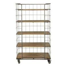 Industriele boekenkast trolley metal 599,00