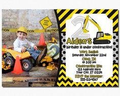 Construction Birthday Invitation  Construction by PuggyPrints