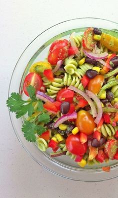 Summer Pasta Salad – a cool bowl of farm fresh awesome with a little pasta thrown in.