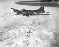 A releases its bombs over Brunswick, Germany, on April It was Stevens's second mission. Ww2 Aircraft, Military Aircraft, Air Force Bomber, American Air, Ww2 Pictures, Military Photos, Air Show, Luftwaffe, World War Two
