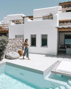 A Beginners Guide to Greek Island Hopping With a Group Stay at Cavo Tagoo Mykonos Cavo Tagoo Mykonos, Greece House, Pool Diy, Greek Island Hopping, Local Architects, Small Patio, Greek Islands, Interior Design Living Room, Exterior Design