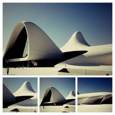 Heydar Aliyev Cultural Center  #baku. I consider this one of the highlight of Zaha Hadid's work.