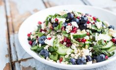 Barley Salad with Blueberries, Feta Cheese and Fresh Mint - Fitgirlcode - Community for fit and healthy women. Unlocking your personal code to a healthy lifestyle.
