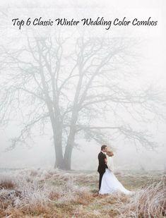 Top 6 Classic Winter Wedding Color Combo Ideas #winterweddingideas #tulleandchantilly #weddingcolors