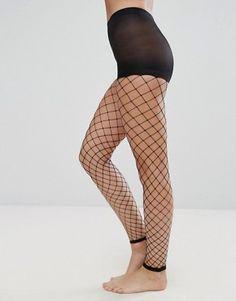 "42/"" Hips Black Free P/&P Ladies  Medium Net or Fence Net Footless Tights Med 36/"""