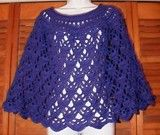 Elegant Lace Crocheted Poncho - free pattern - I made this as a capelet, about half the length