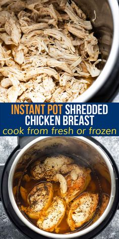 This all purpose Instant Pot shredded chicken breast comes out juicy and flavorful each and every time. Enjoy it as is, or use it up in other recipes through the week!