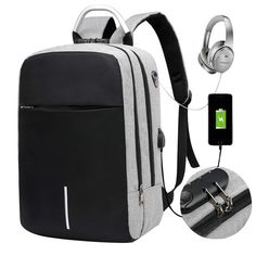 Mybestfurn Laptop Backpack Business Anti Theft Travel Backpack with USB Charging Port Headphone Interface and Lock Slim College School Bag Fits 15.6 Inch Laptop and Notebook * Check this awesome… Mens Travel Bag, Travel Backpack, Travel Bags, Waterproof Laptop Backpack, Laptop Bag, Usb, Anti Theft Backpack, Cheap Backpacks, Backpack Online