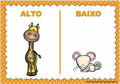 Blog Educação e Transformação: 👍 Opostos Kindergarten Activities, Activities For Kids, Comics, Children, Cards, Fictional Characters, Blog, 1, Activities For Toddlers