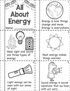 Forms of Energy - Light, Sound and Heat for Primary Learners Kindergarten Science, Science Classroom, Teaching Science, Science For Kids, Science And Nature, Science Fun, Preschool Math, Science Worksheets, Science Resources