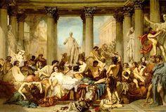 Thomas Couture (1815-1879) - Decadente Romeinen - Olieverf op linnen - 472x772 cm - 1847 - Musée D'Orsay