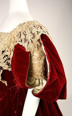 detail of a Charles Fredrich Worth dress