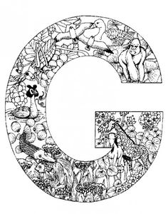 Free Animal Alphabet Letters to Print | Animal alphabet, Alphabet ...
