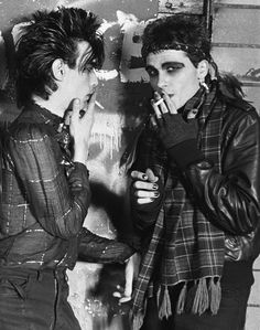 Members of the industrial metal band Ministry photographed by Kirk West during their early new wave days at The Loft in Chicago in 80s Goth, 80s Punk, Punk Goth, Vintage Goth, Blitz Kids, New Wave Music, Pete Burns, Riot Grrrl, New Romantics