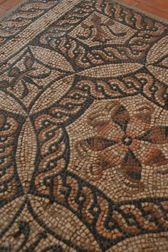 Ancient Roman Mosaic    #mosaic #roman. I love the border patterns in this mosaic
