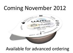 BTX Infusion. This capsule combines Acetyl Hexapeptide-8, Dunaliella Salina (Dead Sea) Algae, Vitamin A and Vitamin E.  Acetyl Hexapeptide-8 is non-toxi