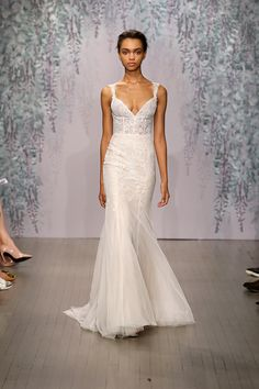 Six New Bridal Trends - Lingerie A structured nightgown of a dress by Monique Lhuillier.