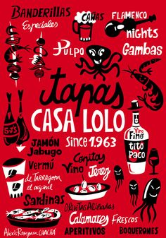 happy lettering and illustration. Alexis Rompara
