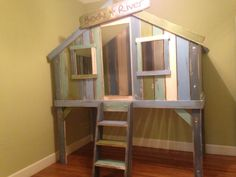 Tree House Bunk Beds Ideas — Home Ceiling Inspirations Indoor Tree House, Modern Tree House, Ikea Bunk Bed, Wood Bunk Beds, Treehouse Loft Bed, Tree House Bunk Bed, Cool Beds For Kids, Loft Bed Plans, Tree House Plans