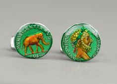 Rome Marcus Aurelius Denarius  Cufflinks. $85.00, via Etsy.