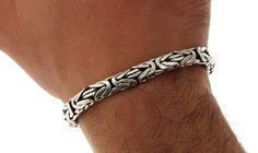 """▌Unisex 925 Sterling Silver 8mm Byzantine Bali Bracelet Size 8"""", 8.5"""", 9"""" »B46"""