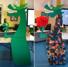 Collaborative Dragon/Dinosaur project: idea for Dino Day Fairy Tale Crafts, Fairy Tale Theme, New Year's Crafts, Crafts For Teens, Chinese New Year Crafts, Fairy Tales For Kids, All Saints Day, Dragon Party, Dragon Crafts