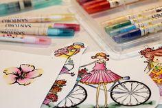 El uso de los rotuladores acuarelables Washi Tape, Cinderella, Scrapbook, Etsy, Ideas, Day Planners, Tutorials, Scrapbooking, Thoughts