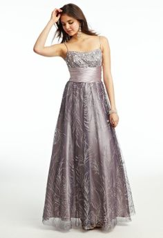 Glitter Mesh Beaded Ballgown Prom Dress from Camille La Vie and Group USA