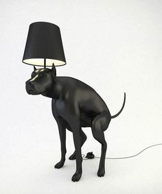 Good Boy lamp was designed as an item of everyday use that makes user unc. - Good Boy lamp was designed as an item of everyday use that makes user uncomfortable with ever - Deco Luminaire, Cool Dog Houses, What Kind Of Dog, Design Fails, Design Trends, Best Puppies, Cool Lamps, Black Lamps, Floor Lamp