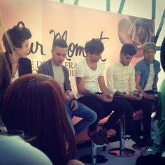 One Direction announcing their new perfume 'Our Moment'