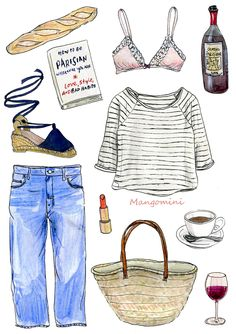 the-royal-treatment:  mangomini:Inspired by How to be Parisian, wherever you are  LETRAITEMENTROYA