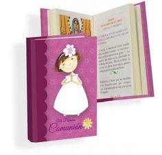 Misal Primera Comunión niña margarita  Libros para Primera ComuniónMisal de Primera Comunión, en color fucsia, con dibujo de niña con vestido de comunión y graciosa diadema con una gran margarita.